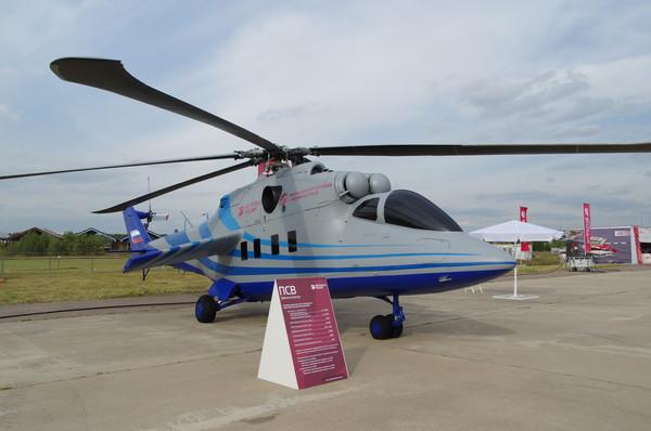 Полномасштабный макет демонстратора летающей лаборатории перспективного скоростного вертолёта (ПСВ)