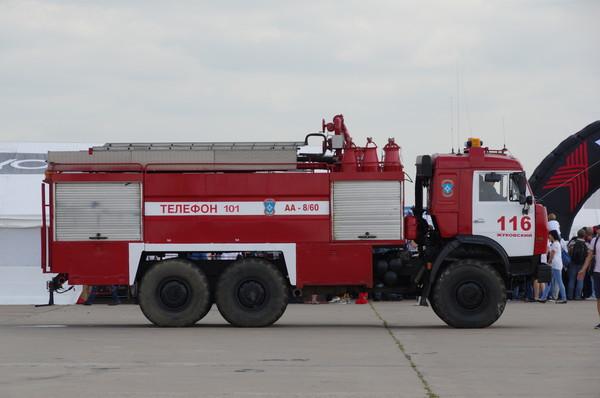 Специальный пожарный автомобиль на базе шасси КАМАЗ