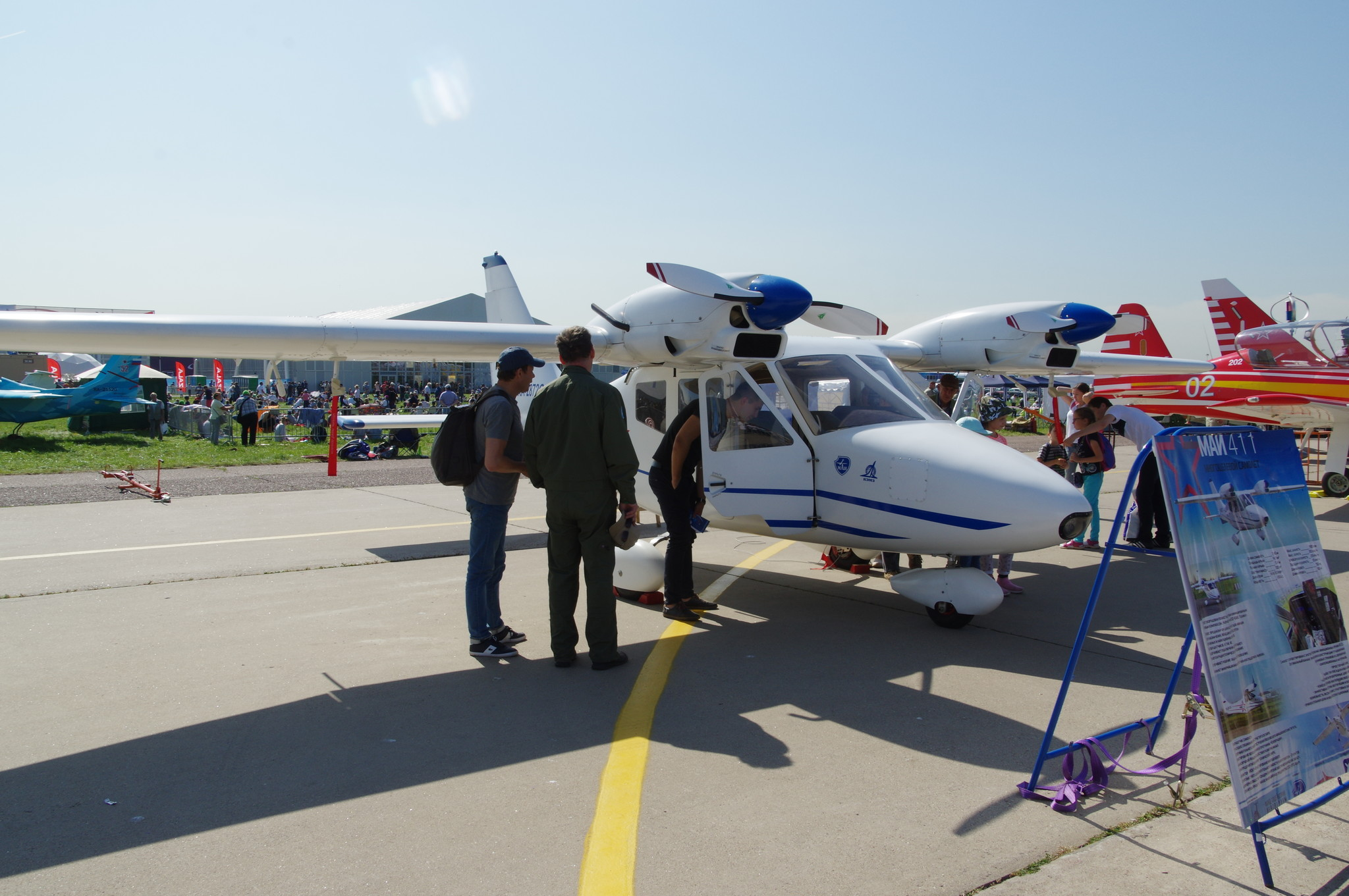 Лёгкий четырёхместный самолёт МАИ-411