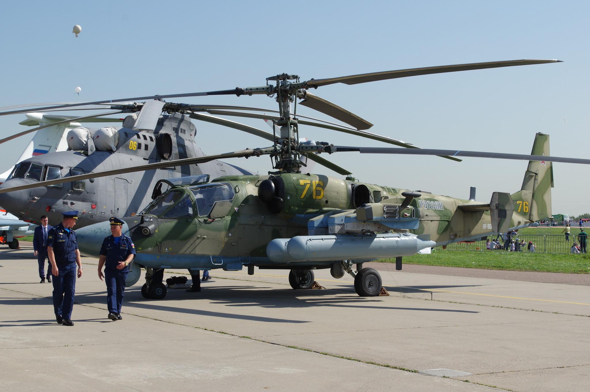 Многофункциональный вертолёт Ка-52 «Аллигатор»