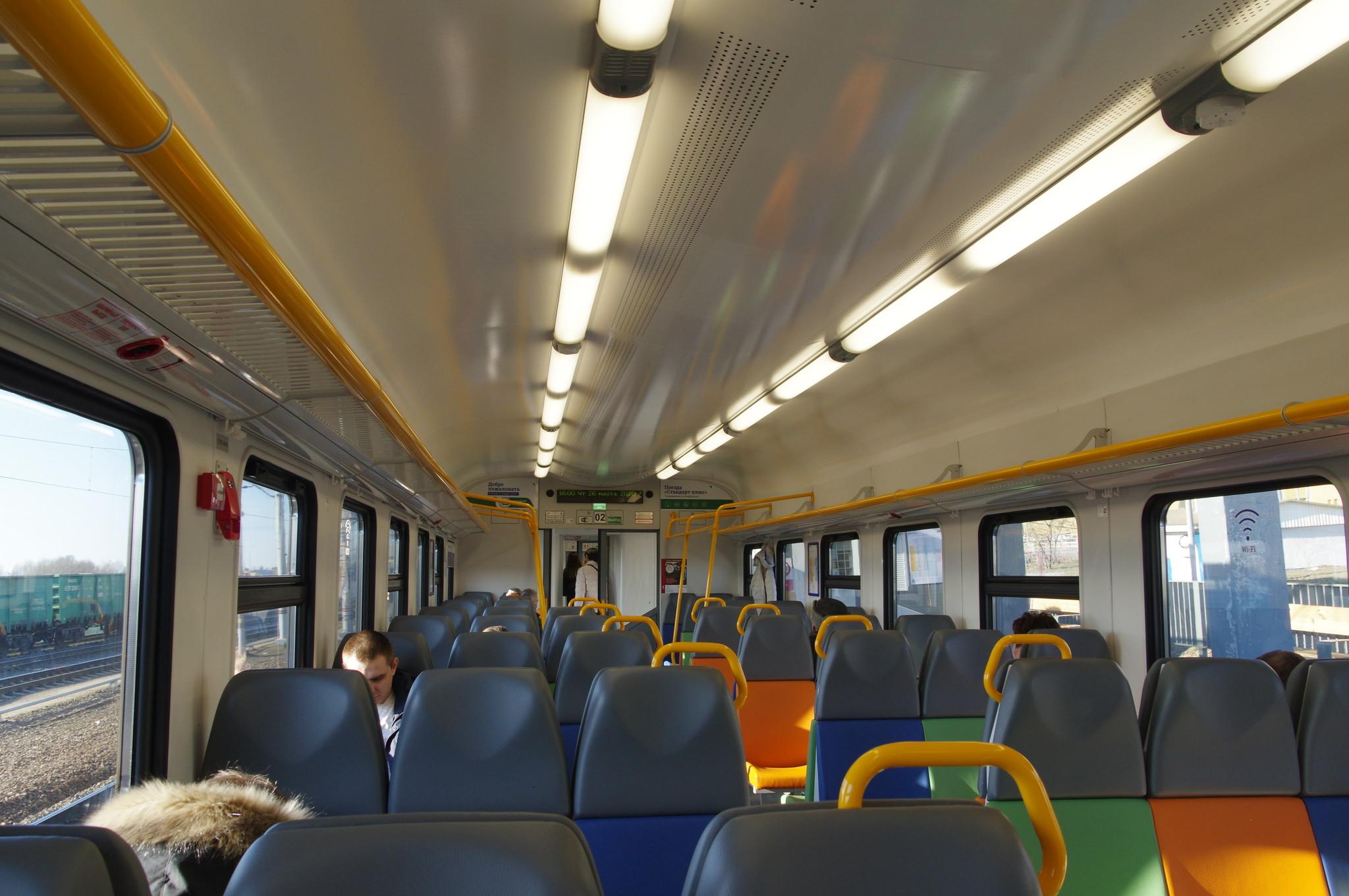 Поезд на первой линии Московских центральных диаметров