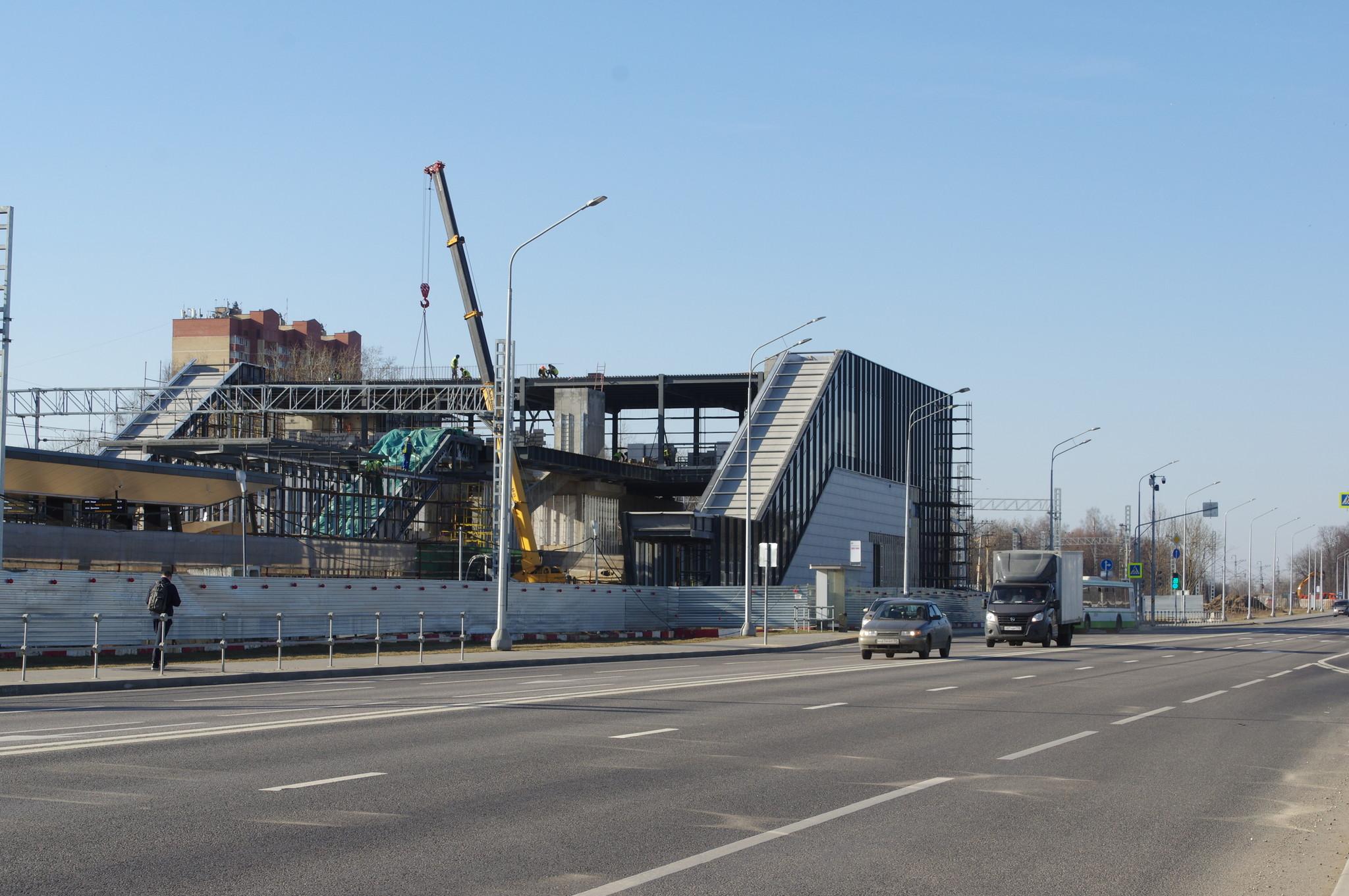Строительство станции «Новодачная» МЦД-1