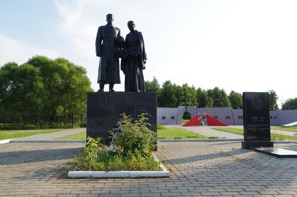 Надгробный памятник А.П. Белобородову, деревня Ленино, Истринский район, Московская область