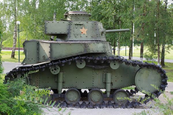 Лёгкий танк МС-1(Т-18) в экспозиции Ленино-Снегирёвский военно-исторический музея