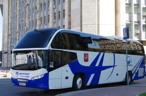 Автобус департамента транспорта и развития дорожно-транспортной инфраструктуры города Москвы