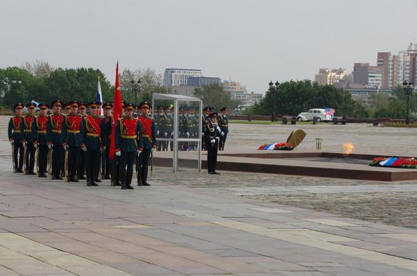 Военнослужащие роты почётного караула 154 отдельного Преображенского комендантского полка