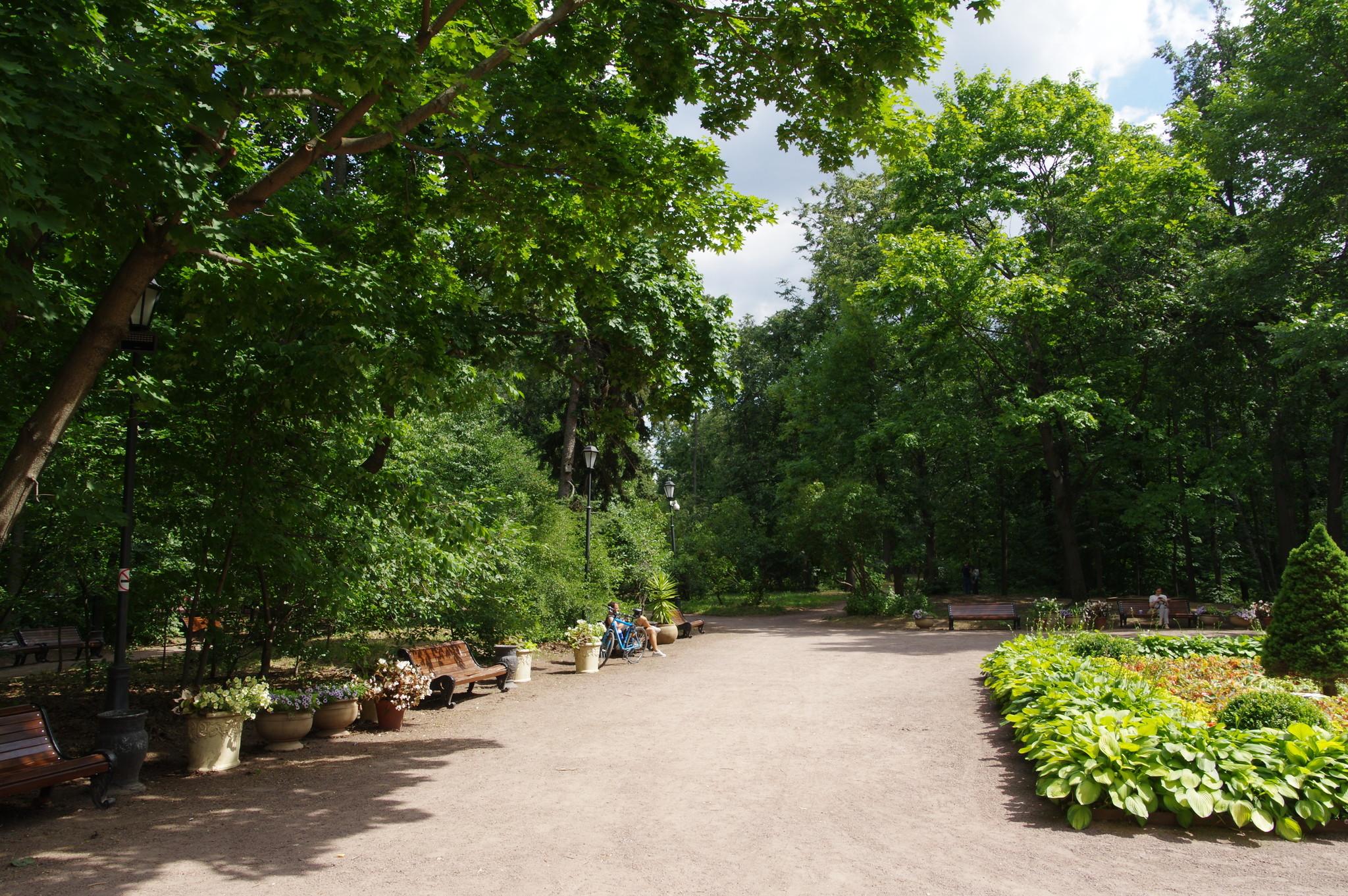 У Летнего домика графа Орлова в Нескучном саду