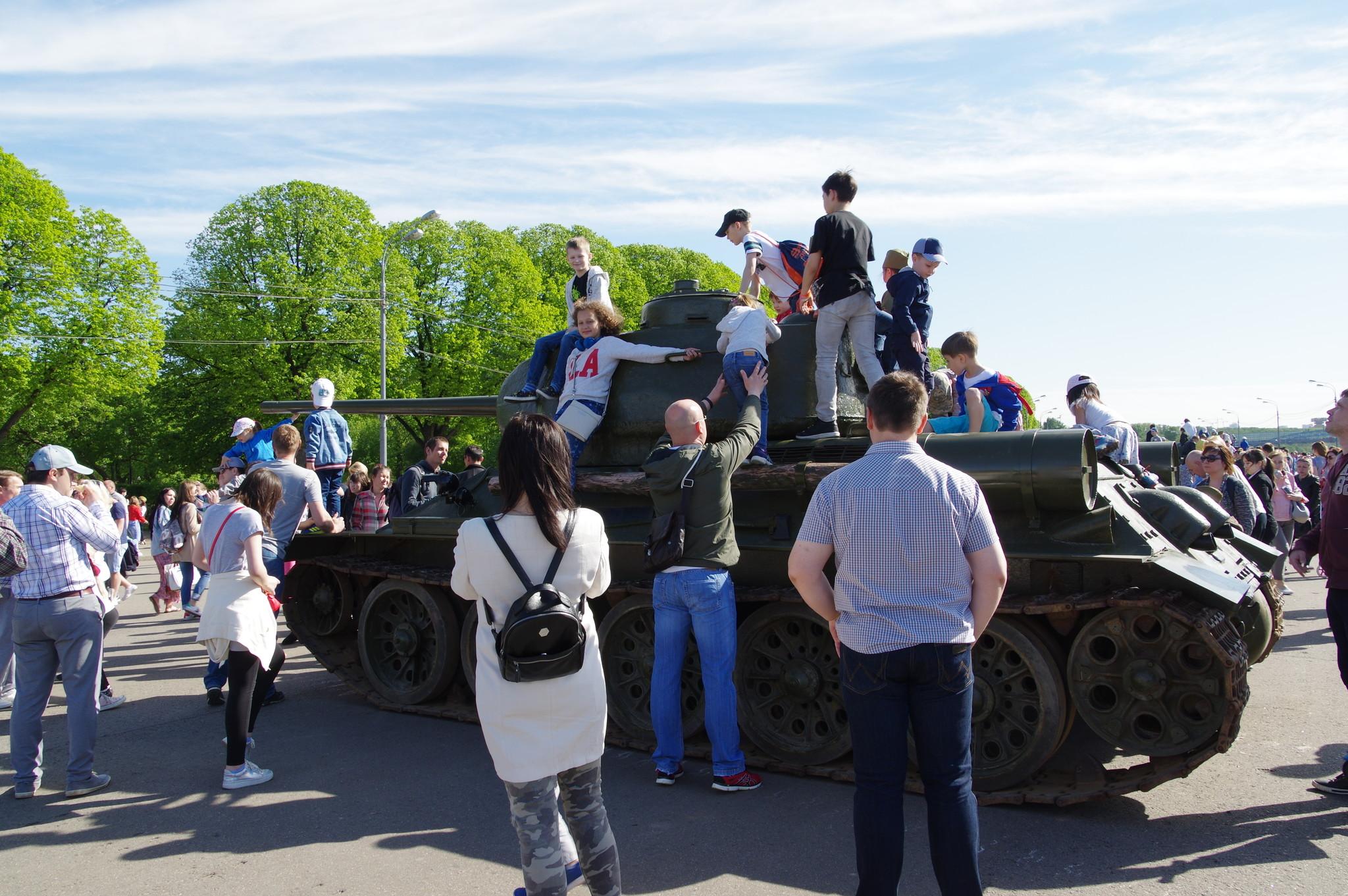 Средний танк Т-34-85 в Парке Горького