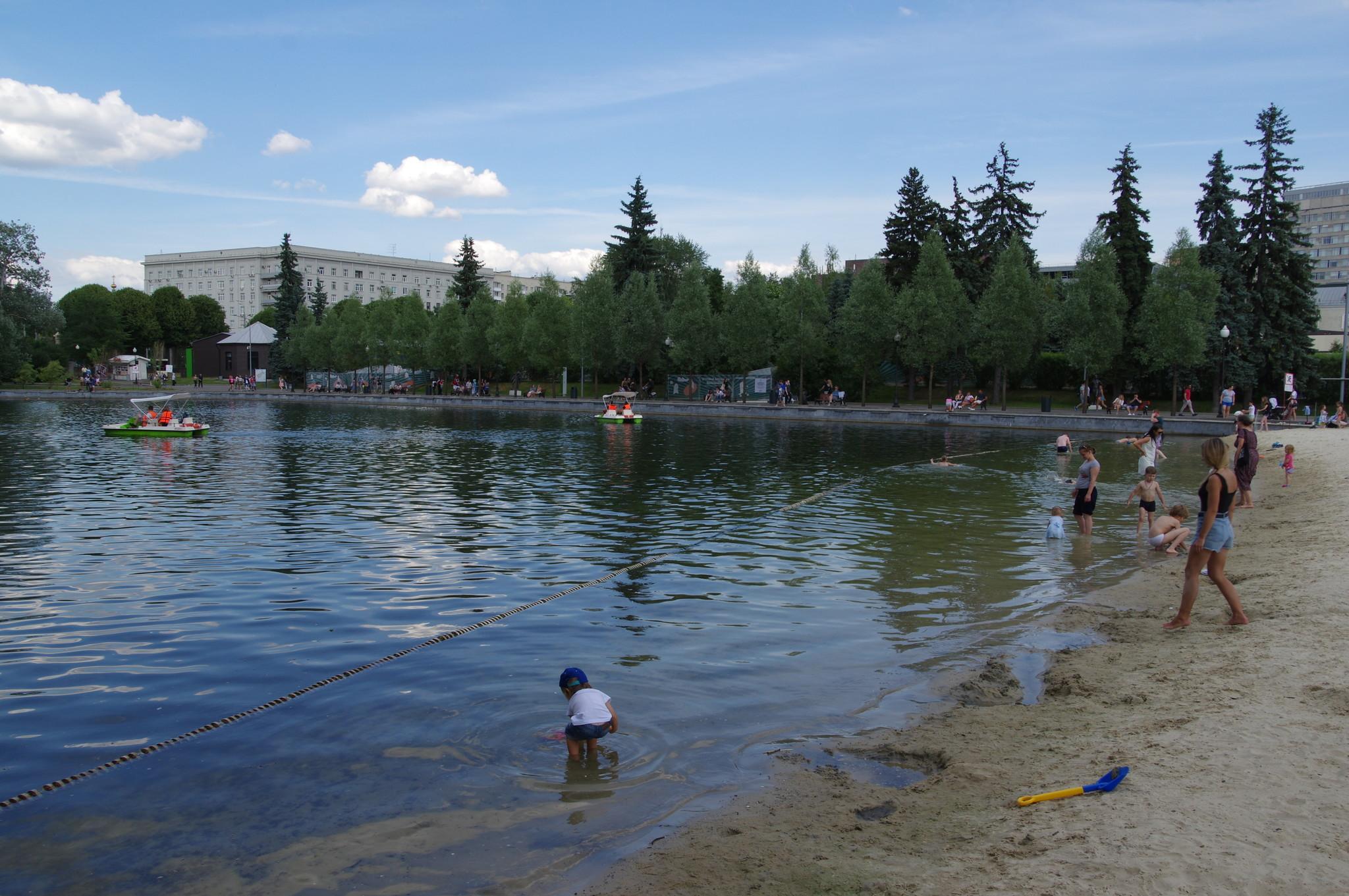 Пионерский пруд в Центральном парке культуры и отдыха имени Максима Горького