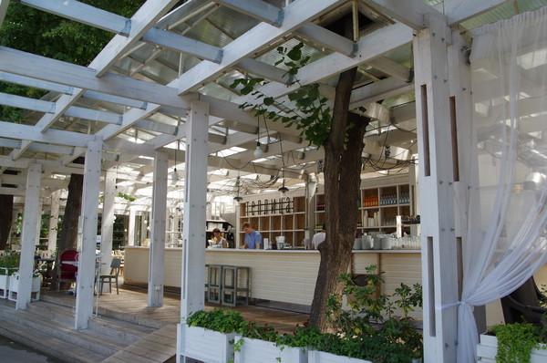 Кафе «Теплица» в Нескучном саду