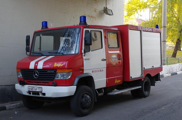 Пожарная машина на шасси Mercedes-Benz