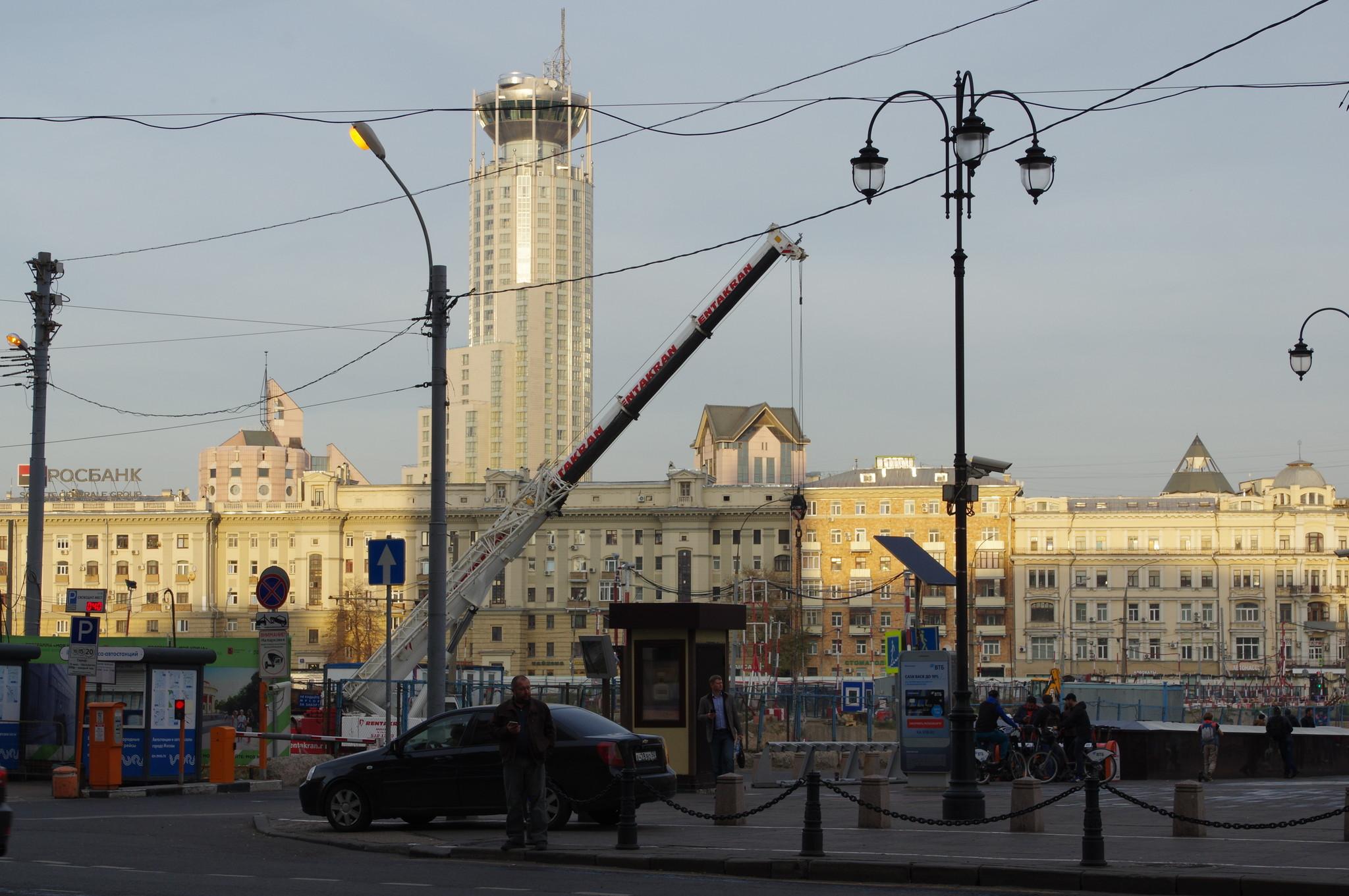 Строительство многофункционального торгового комплекса под Павелецкой площадью