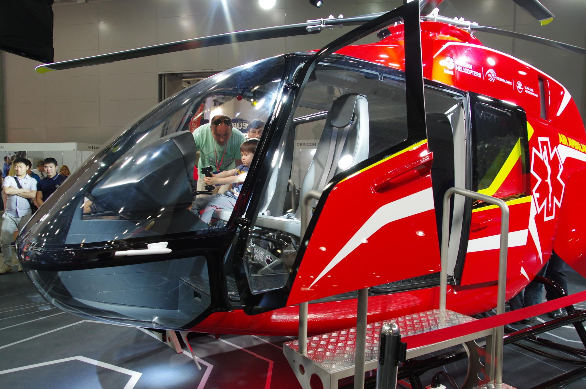 Вертолёт VRT500 стал сенсацией выставки HeliRussia 2018
