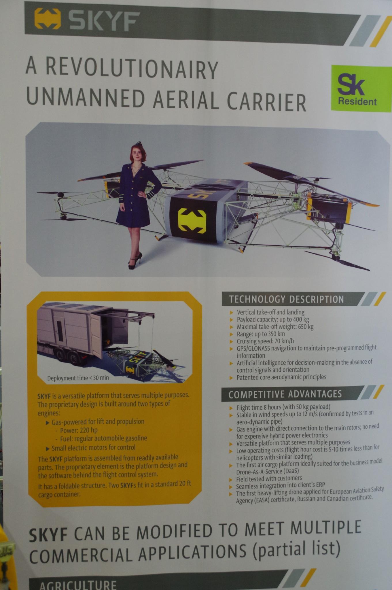 Беспилотная авиагрузовая платформа SKYF