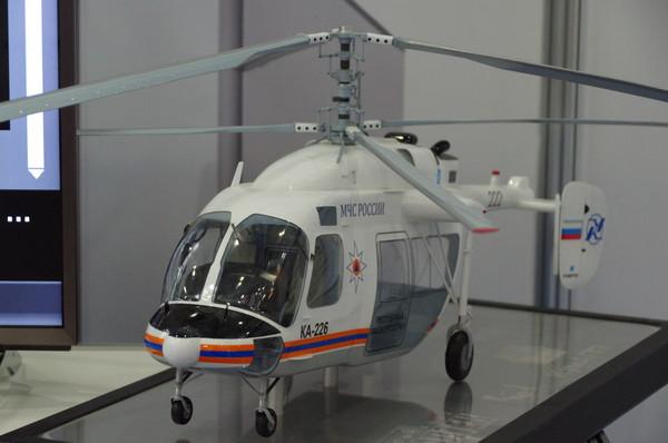 Модель лёгкого многоцелевого вертолёта Ка-226