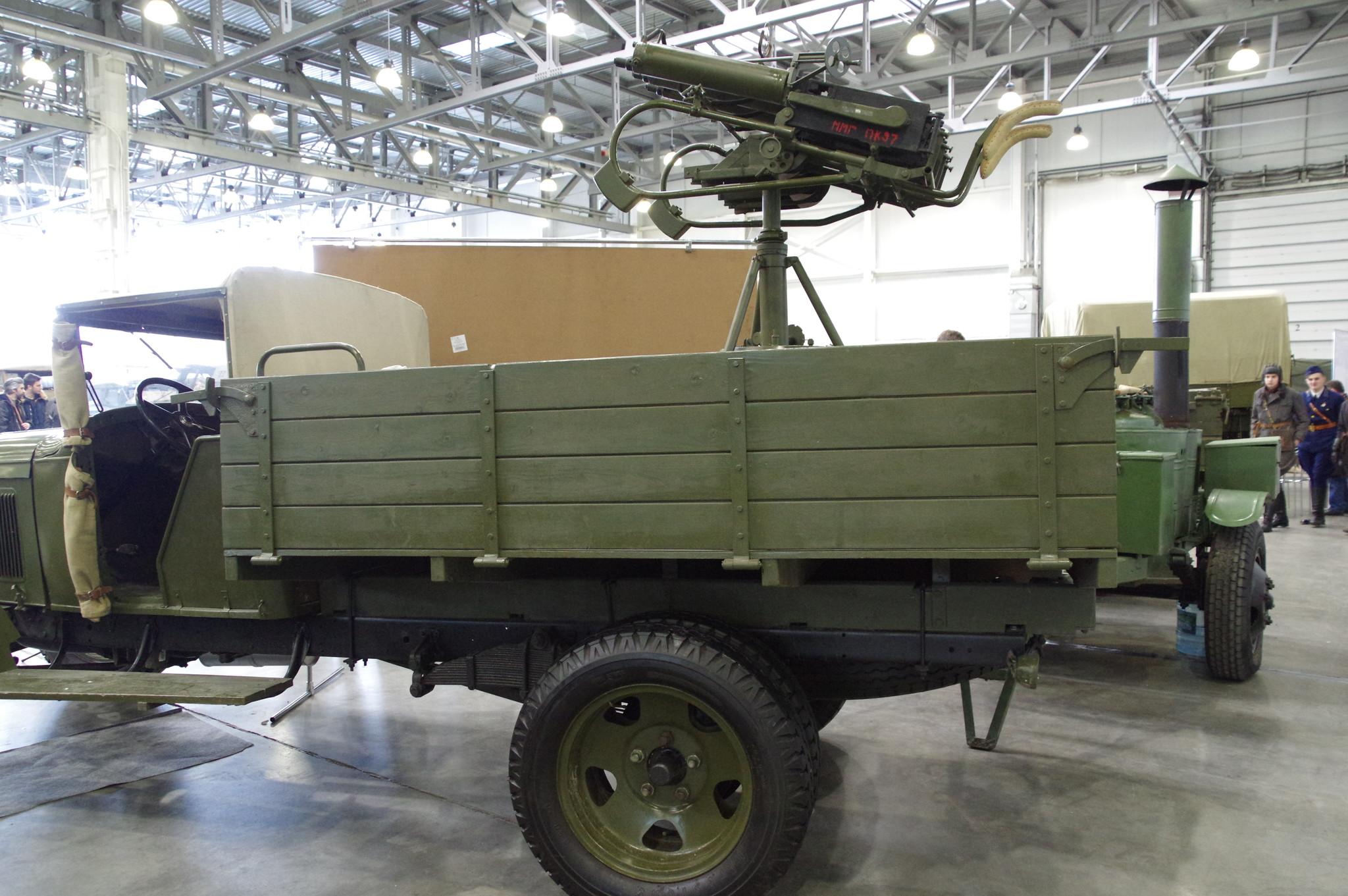 Счетверённая 7,62-мм зенитная пулемётная установка обр. 1931 г. системы Н.Ф. Токарева на шасси грузовика ГАЗ-АА