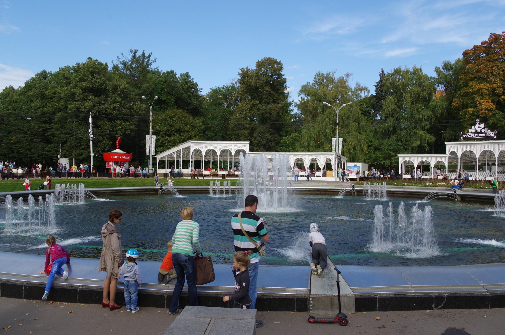 Фонтан в парке «Сокольники»