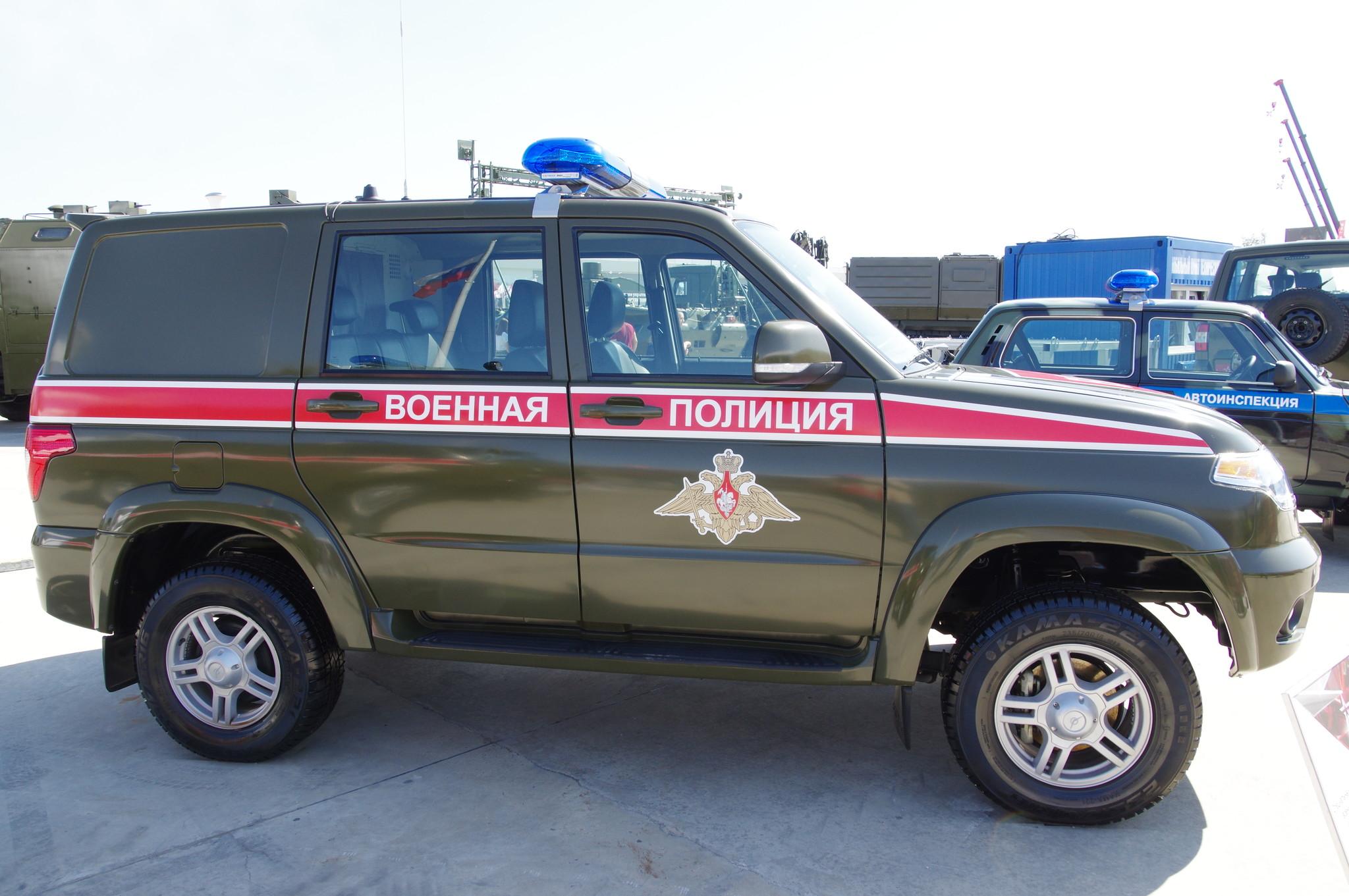 Специальный автомобиль военной полиции УАЗ-3163-103-62