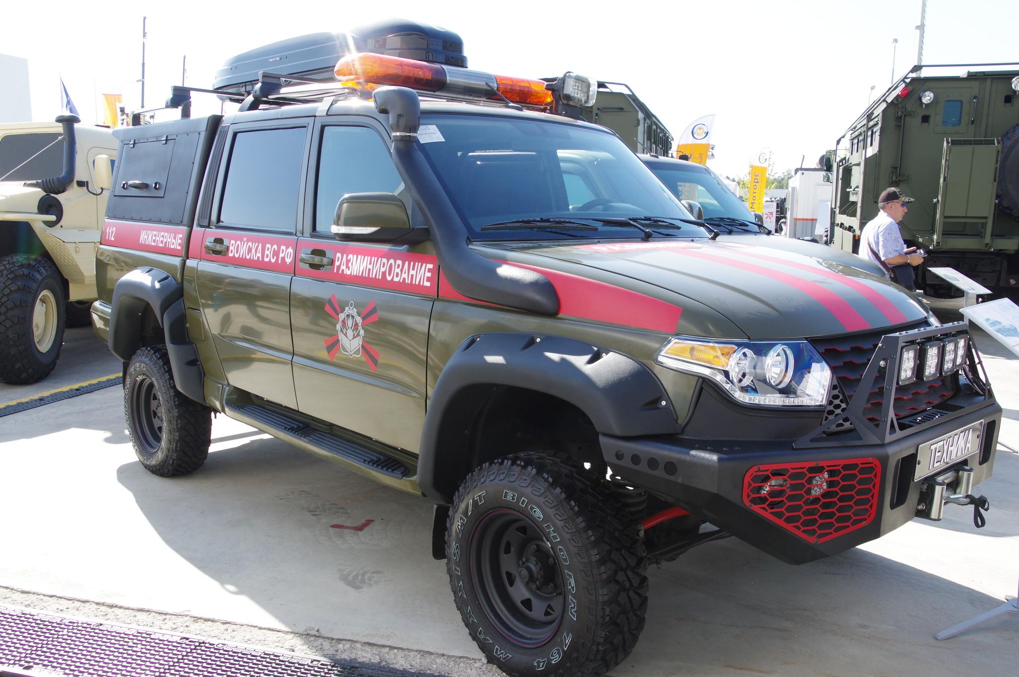 Специальный автомобиль группы разминирования ЕСАУЛ 39461-00-02, изготовленный на базе УАЗ «Патриот»