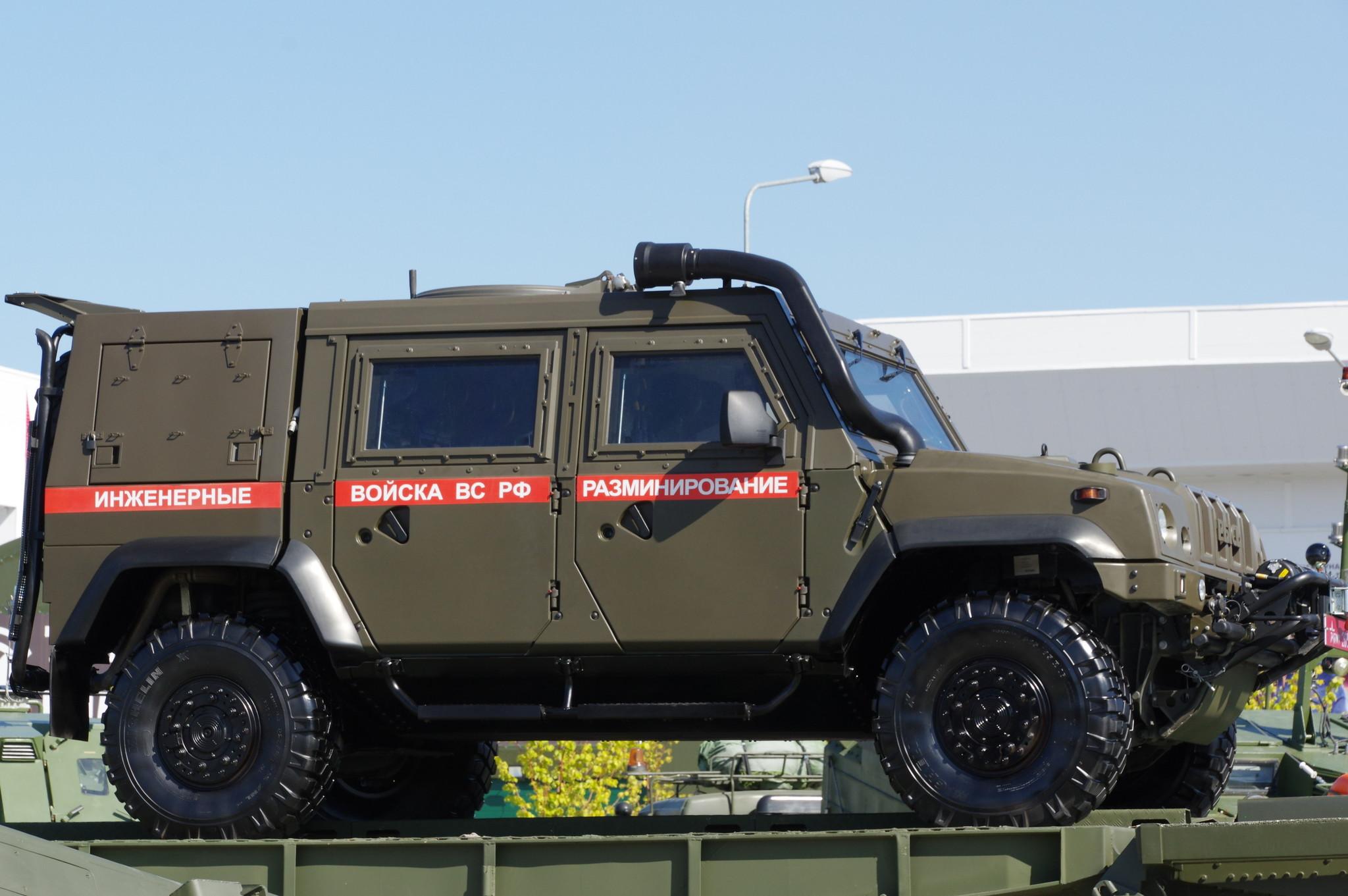 Специальный бронеавтомобиль «Рысь» инженерных войск ВС РФ