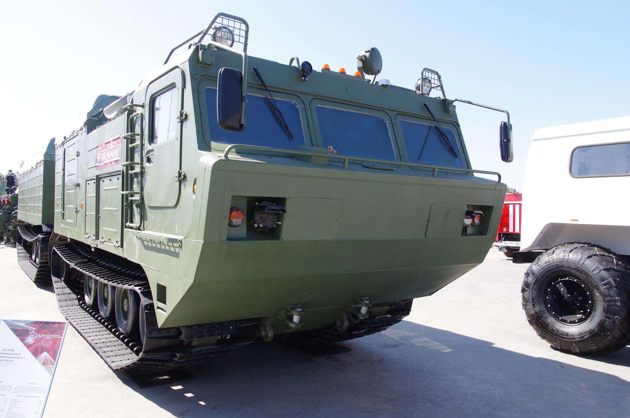 Модернизированный двухзвенный гусеничный транспортёр ДТ-10ПМ