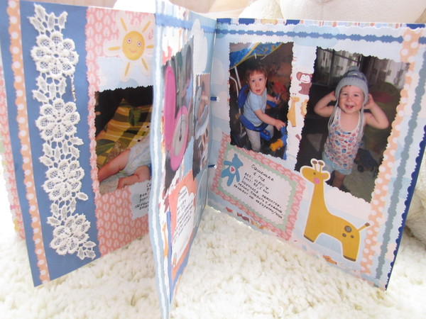 Скрапбукинг фотоальбом для бабушки 79