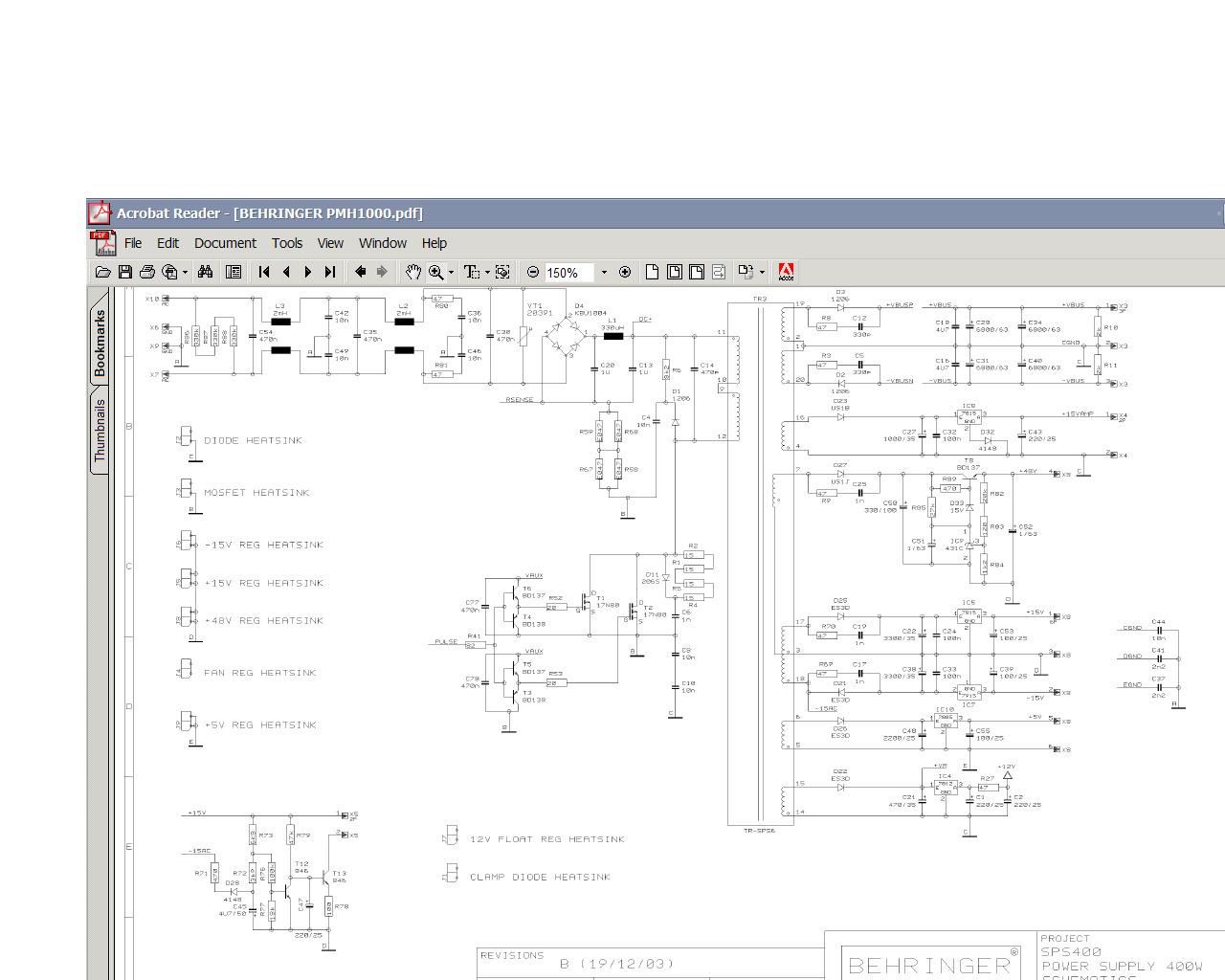 Схема behringer pmp1000