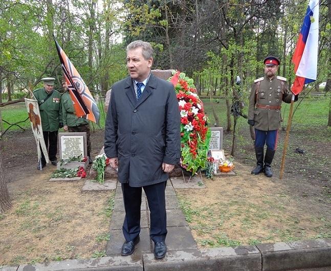 При участии Министерства культуры РФ на Братском кладбище героев войны 1914-1918 годов открыли надгробную плиту Сестрам милосердия Ольге Шишмаревой и Вере Семеновой. H-464