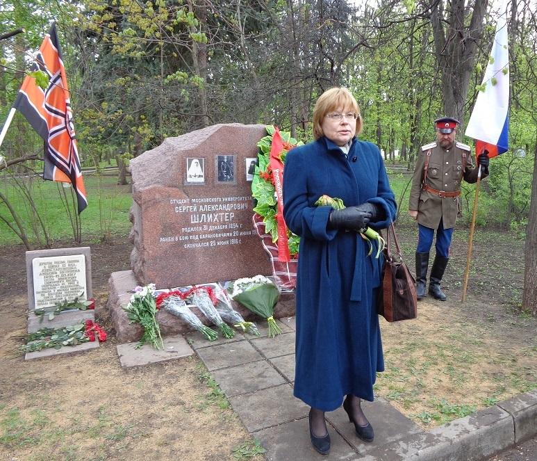 При участии Министерства культуры РФ на Братском кладбище героев войны 1914-1918 годов открыли надгробную плиту Сестрам милосердия Ольге Шишмаревой и Вере Семеновой. H-509