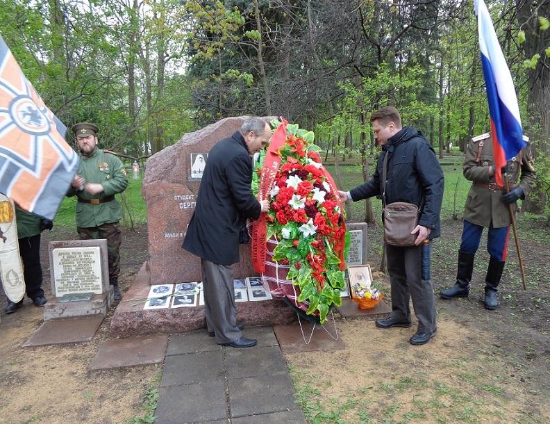 При участии Министерства культуры РФ на Братском кладбище героев войны 1914-1918 годов открыли надгробную плиту Сестрам милосердия Ольге Шишмаревой и Вере Семеновой. H-516