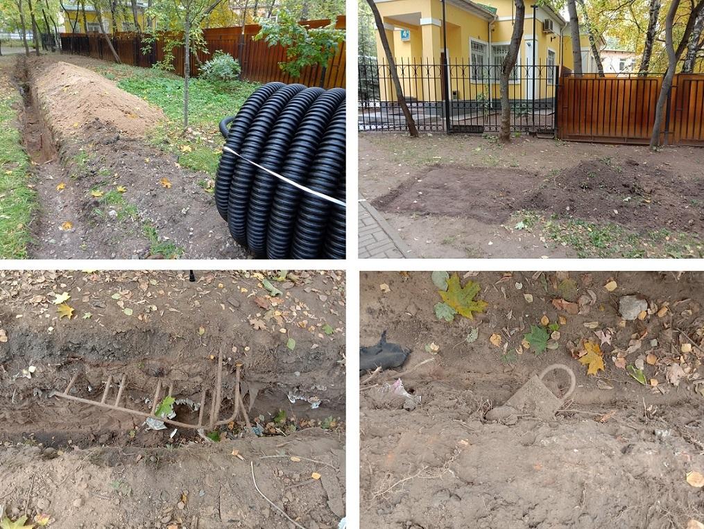 """Чиновники уничтожают старинные могилы в сквере, разбитом на месте Солдатского кладбища """"Арбатец"""". H-589"""
