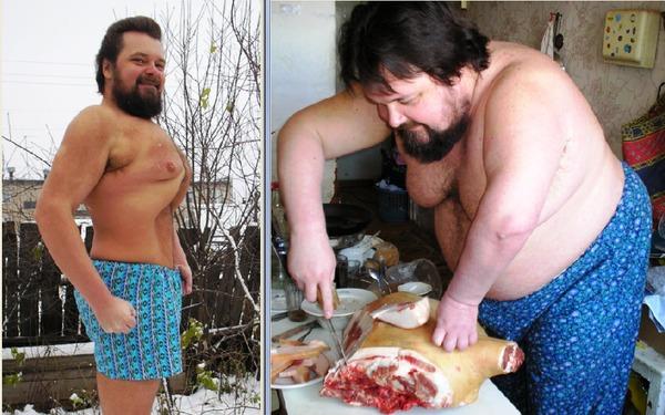 Парень не хочет похудеть