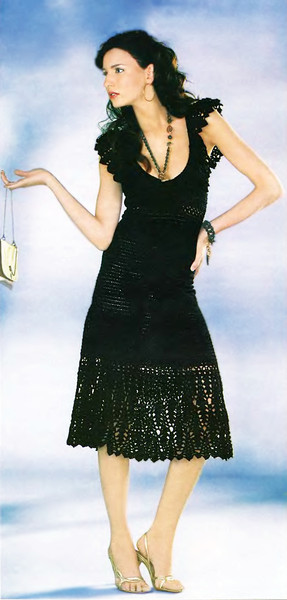 ВЯЗАНОЕ ПЛАТЬЕ Схемы вязания платья Вязание платья крючком Вязание.