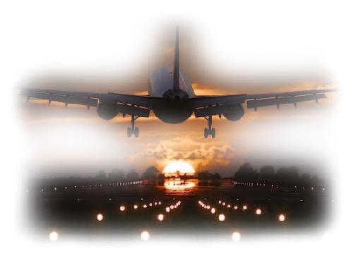 Взлетающий самолет анимация