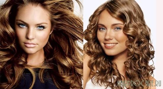 Светло-шоколадный цвет волос.