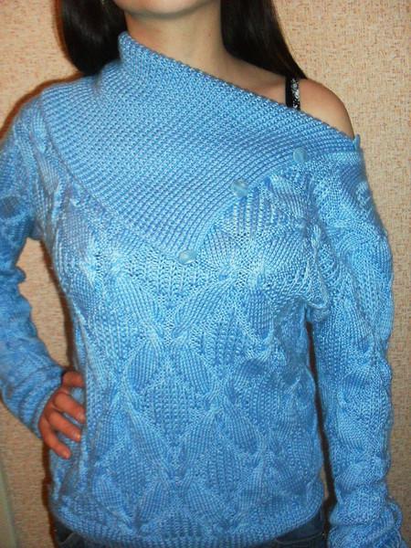 Схема к голубому свитеру