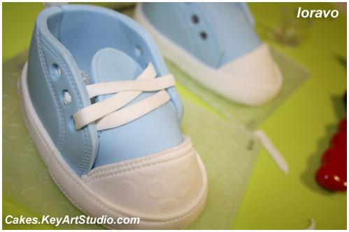 i 1029 Детские кеды/ботиночки/туфельки из мастики.