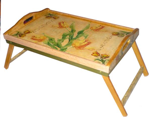 поднос столик Тюльпаны 4