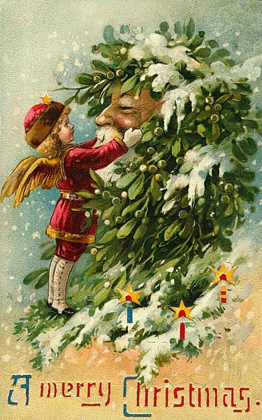 Винтажные открытки к Новому году и Рождеству - фото 13.