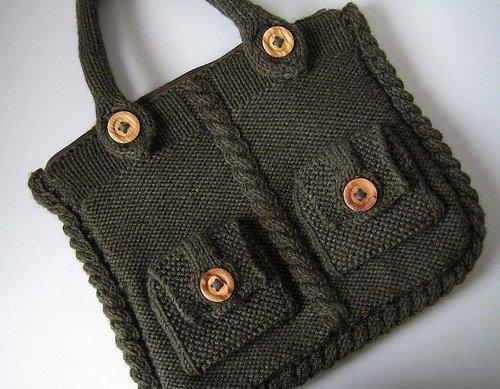 вязанные сумки спицами схемы.