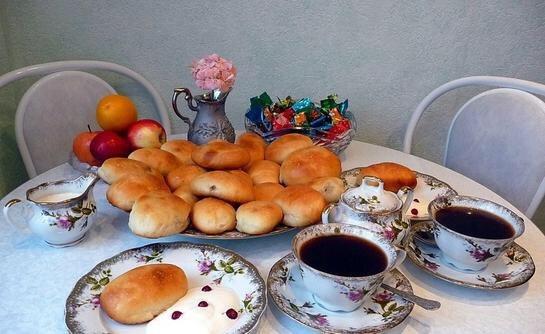 Чай кофе пирожки