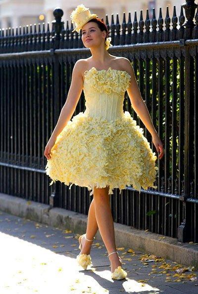 Как сделать платье из салафана