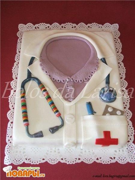 торты для врача фото