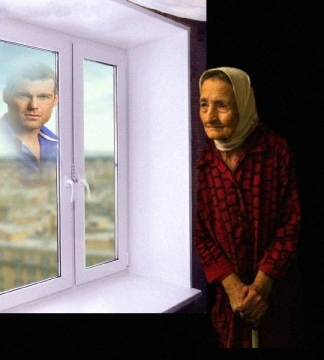 старушка у окна