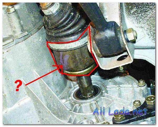 снятие и установка приводов передних колес на автомобилях ваз 2108, ваз 2109...