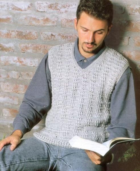 Схемы мужских узоров вязания крючком.
