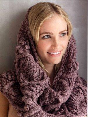 Другой взгляд на шарфы.  Вяжем спицами и крючком.