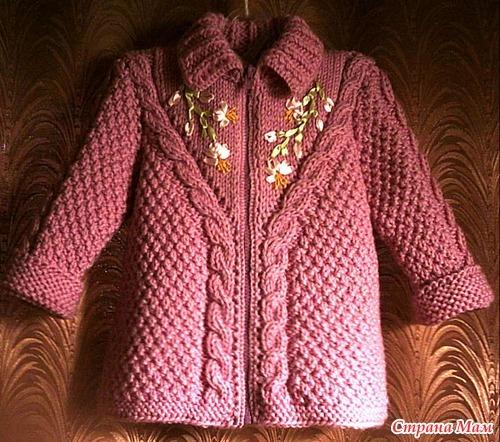 пальто для девочек спицами и крючком обсуждение на Liveinternet
