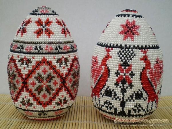Яйца из бисера мастер класс шапка мономаха пошаговый #6