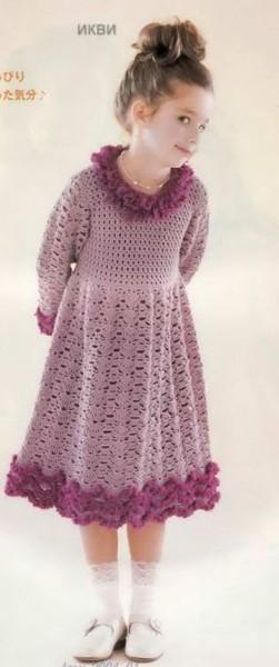 Вязаные крючком эксклюзивные женские платья от дизайнера Москвы Любы...
